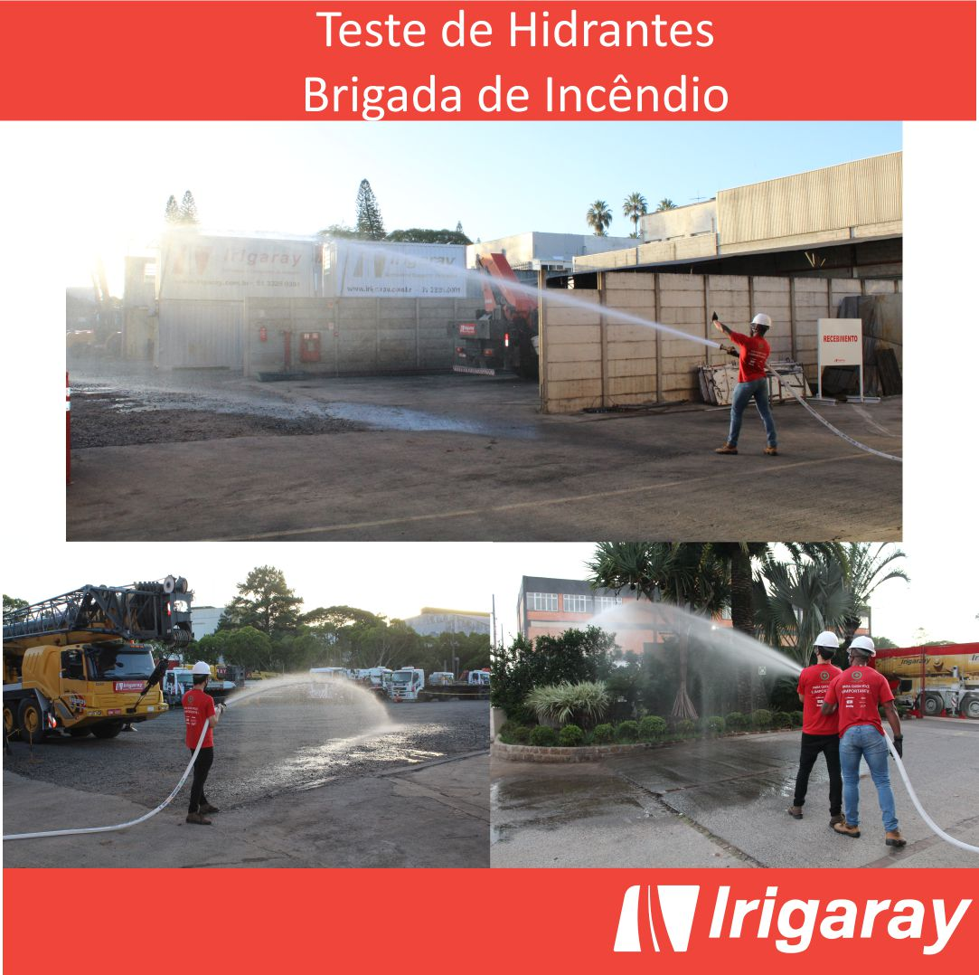 Testing the Fire Fighting System